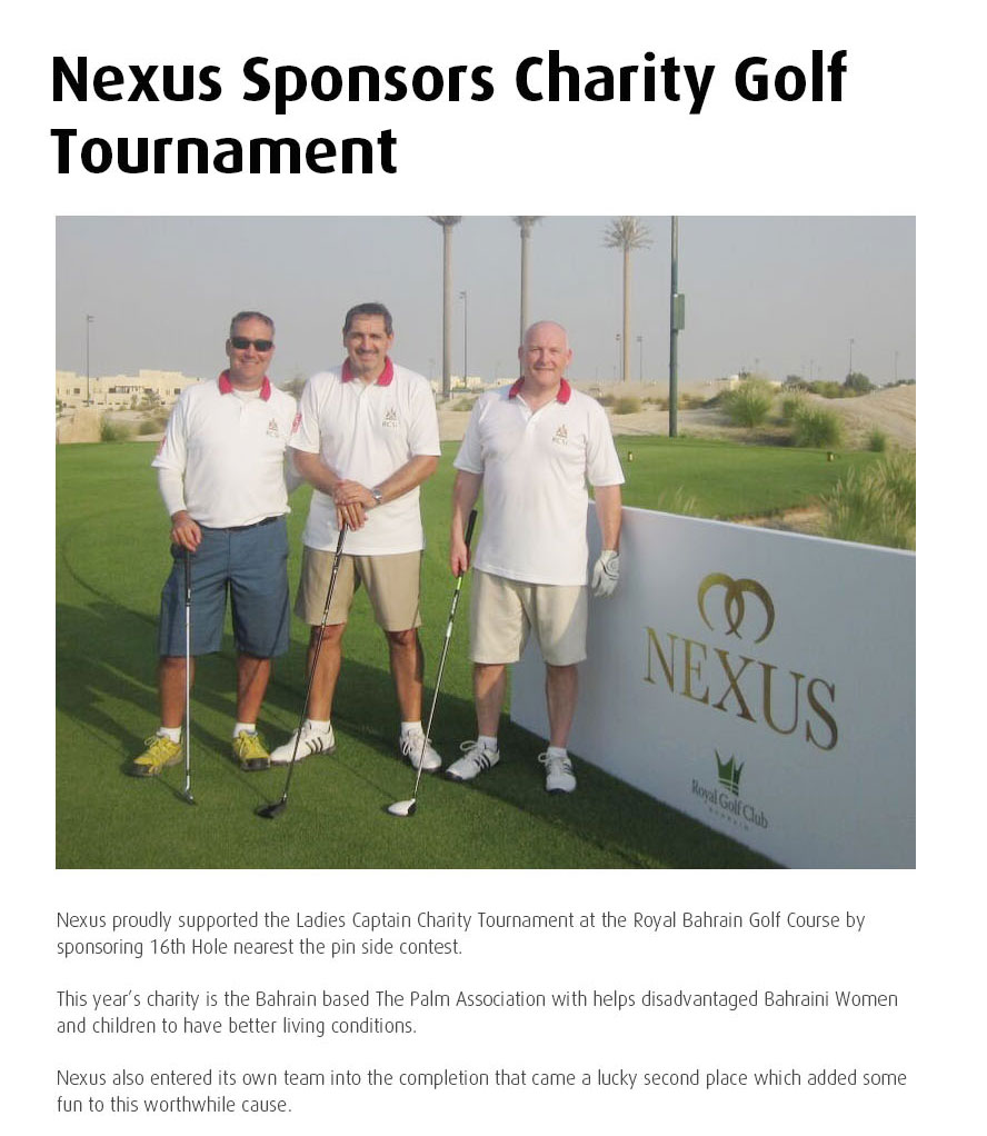 Nexus Charity Golf Bahrain