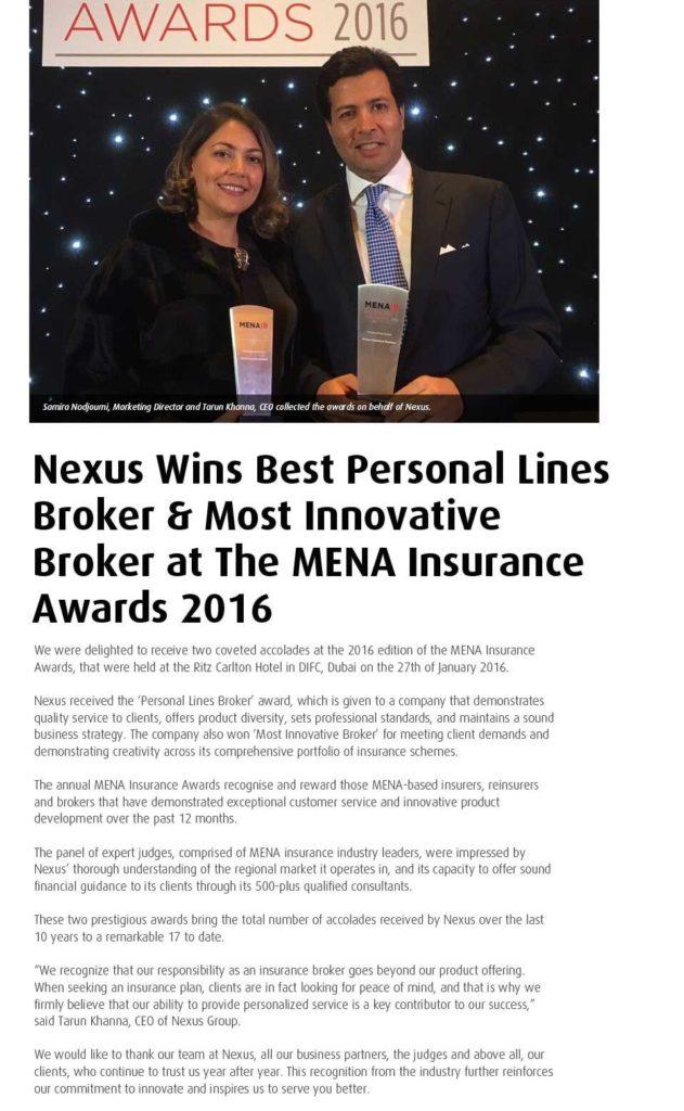 MENA Award 2016