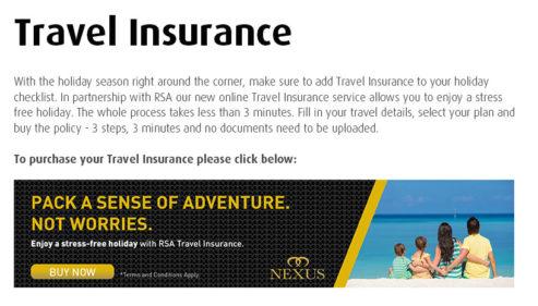 RSA Travel Insurance.