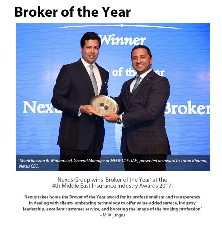 Broker of the year November 2017