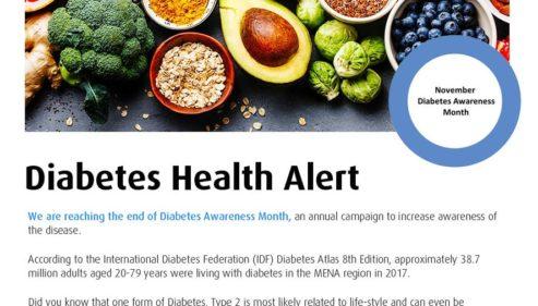 Diabetes Health Alert !