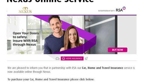 Nexus Online Services via RSA.