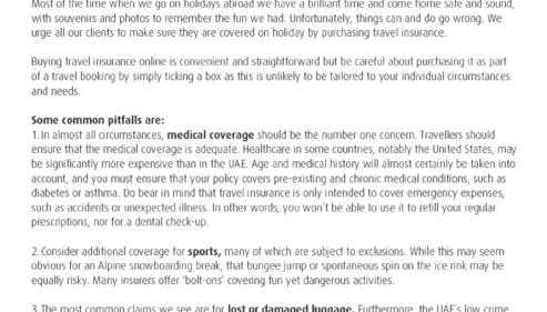 RSA Travel Insurance Online !