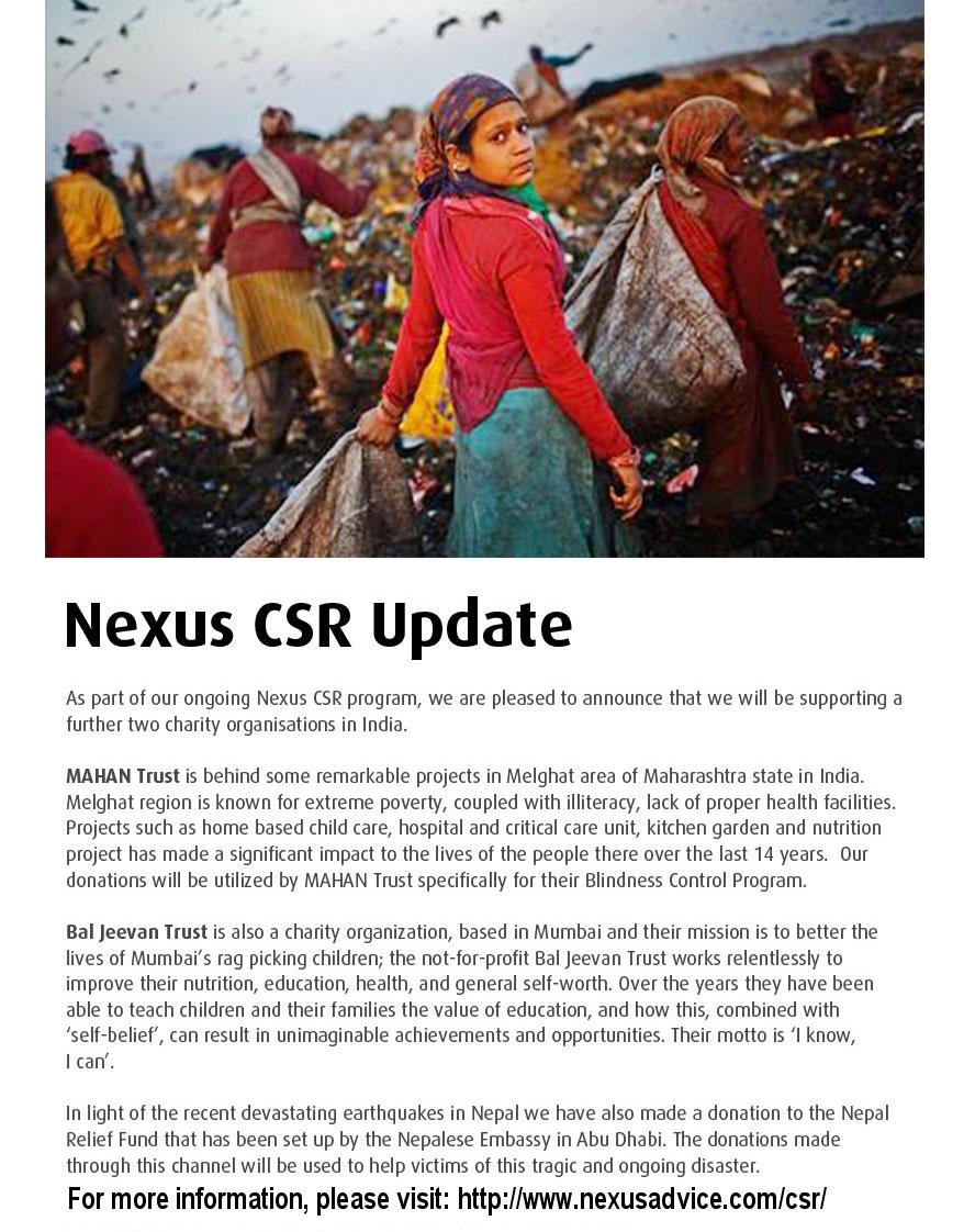 CSR Update May 2015