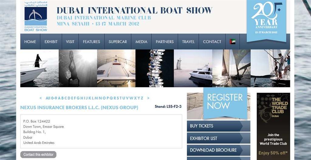 Dxb BoatShow Exhibitor